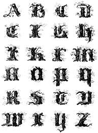 tattoo designs for letters tree letters google search display pinterest fonts border
