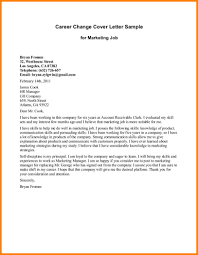 Cover Letter Examples Career Change 100 Cover Letter For Marketing Job Marketing And Sales
