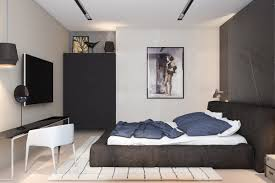 Bachelor Pad Bedroom Contemporary Home Interior Design Ideas Which Decorated With Black