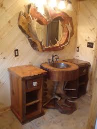 Pine Bathroom Furniture Bathroom Design Using Decorative Driftwood Pine Bathroom Cabinet