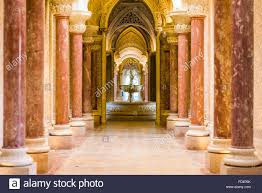 Palace Interior Monserrate Palace Interior In Sintra Portugal Stock Photo