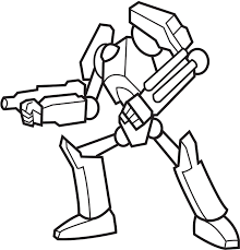 latest robot coloring pages color coloringpagehub