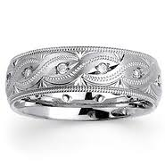 carved wedding band carved bands carved wedding rings goldenmine