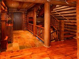 Log Floor by Beautiful Log Lodge On The Blue River Clo Vrbo