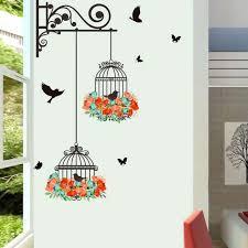 stickers pas cher pour chambre stickers muraux cage à oiseaux oiseaux pour les enfants chambre mur