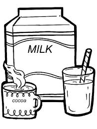 drink milk drinks coloring pages pinterest