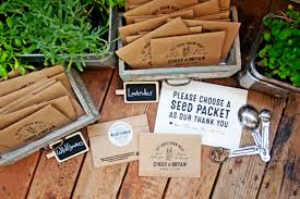 seed packet favors seed packet wedding favors personalized bag and seeds