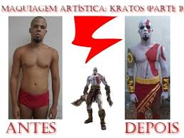 Kratos Halloween Costume Maquiagem Artística Kratos Parte 1