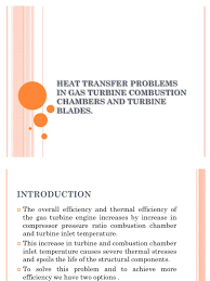 heat transfer problems in gas turbine combustion chambers