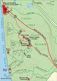 Southern United States Map by Hiking Trail Map Of Torrey Pines State Reserve In Southern
