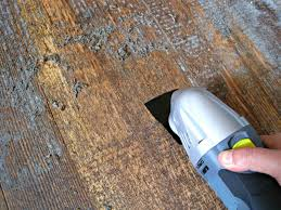 removing glue or adhesive from hardwood floors the speckled