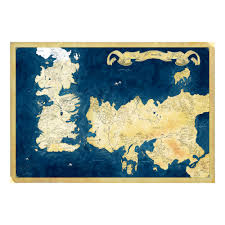 Game Of Thrones World Map by Game Of Thrones Inspired The Known World Map Canvas Print