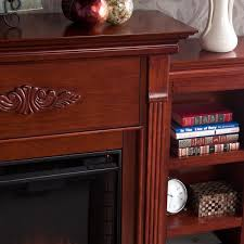 Bookcase Mahogany Harper Blvd Dublin 70 Inch Mahogany Bookcase Electric Fireplace