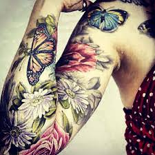 womens flower and butterfly tattoo shoulder google search
