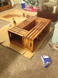 How To Make Wine Crate Coffee Table - wine crate coffee table diy crafts pinterest diy and crafts
