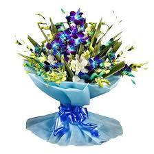 Blue Orchids Romantic Orchids Bouquet Delivery Delhi Noida Ghaziabad Quick