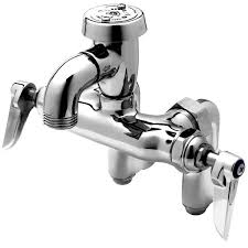 t s brass commercial kitchen faucets b 0669 pol service sink faucet with integral stops atmospheric