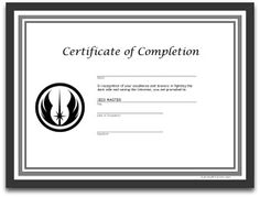 star wars party printable training academy certificate digital