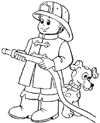 fireman dog coloring pages fireman coloring pages
