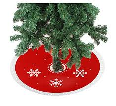 12inch reindeer patterns mini trees skirt