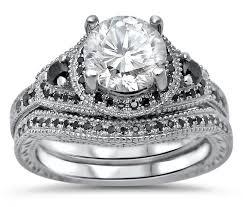 black diamond bridal set black diamond wedding ring sets wedding corners
