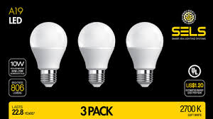 20 Watt Led Light Bulb by Sels Led A19 Led Light Bulb 10 Watts 806 Lumens E26 Standard Base