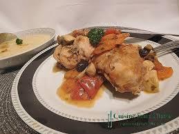 cuisiner le lapin en sauce recette lapin en sauce au olives accompagné de polenta crémeuse