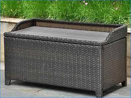 rattan storage bench deck box home design ideas