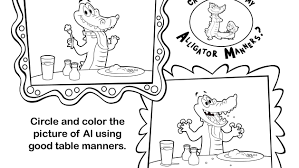 Kids Coloring Table Table Manners Disney Junior