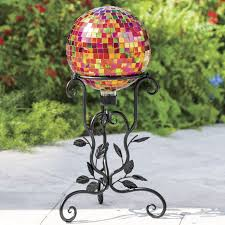 Gazing Ball And Stand Metallic Gazing Ball With Stand From Montgomery Ward Si720462