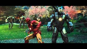 war machine iron man wallpapers iron man and war machine vs hammer drones iron man 2 youtube