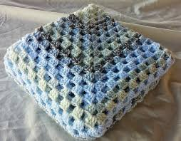 concentric blue and white granny square afghan infant toddler boy