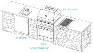 Sample Outdoor Kitchen Plan Havana Layout For The Home - Outdoor kitchen cabinets plans