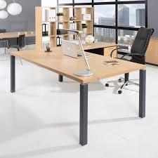 bureau professionnel bureau professionnel 200x100 cm coloris chêne clair et carbone