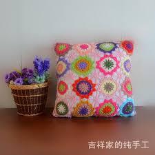 taie d oreiller pour canapé livraison gratuite coloré coton crochet taie d oreiller pour canapé