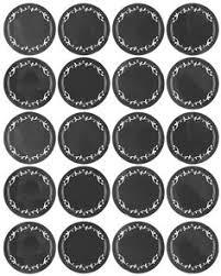 printable black round spice labels kitchen spice jar u0026 pantry