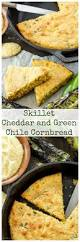skillet cheddar and green chile cornbread recipe runner