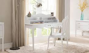 promo bureau bureau design laqué blanc margot pas cher blanc et chêne prix promo