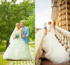 2017 fall ruffled organza ball gown country style wedding dresses