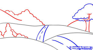 how to draw a landscape step by step other landmarks u0026 places
