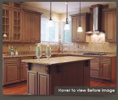 Kitchen Cabinets Refinished Refinish Kitchen Cabinets Cool Refinishing Golden Oak Kitchen