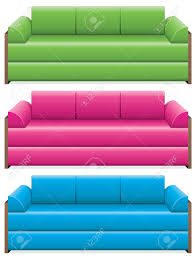 Bedroom Sofa Vector Set Of Colorful Sofas Royalty Free Cliparts Vectors And