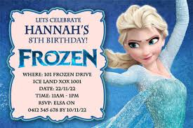 Invitation Card 7th Birthday Boy Best Selection Of Frozen Personalized Birthday Invitations 2014
