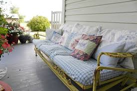 about vintage outdoor gliders artisan crafted iron furnishings