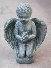 angel with bird angel statue garden statue home decor