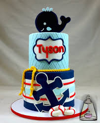 whale and anchor baby shower ckae baby shower ideas
