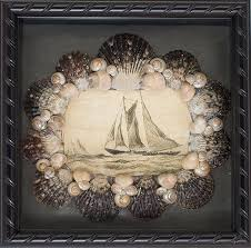Shadowbox Beach Themed Seashell Shadowbox Seaglass Beach Decor by Decoration Ideas Endearing Image Of Boat Artwork Seashells
