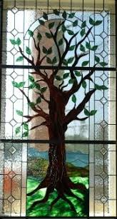 tree of stained glass if i to stare at a wall of the