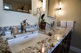 Chrome Bathroom Fixtures Black And White Granite Countertop With Chrome Fixtures