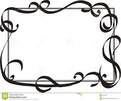 Free Decorative Borders Clip Art Marquee Swirl Border Clipart